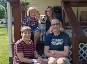 The Gang and Kasha, the dog, in Elmira