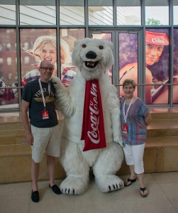 Us with the Coca-Cola bear!