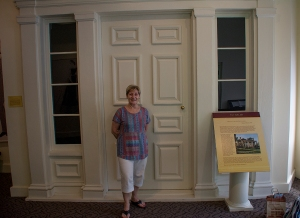 The original door to Tara, Scarlett's home as seen in the movie