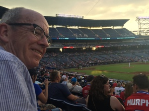 Simon at the Atlanta Braves' Baseball Game