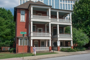 The Margaret Mitchell apartment is the three windows on the left