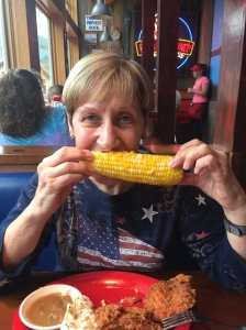 Crumbs, that corn is nearly as big as me!