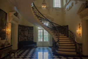 The magnificent staircase at Swan House