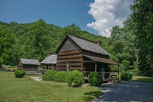 John E. Davis house at the Mountain Farm Museum