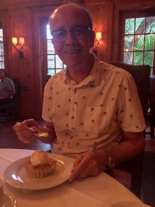 Si with his blueberry pie